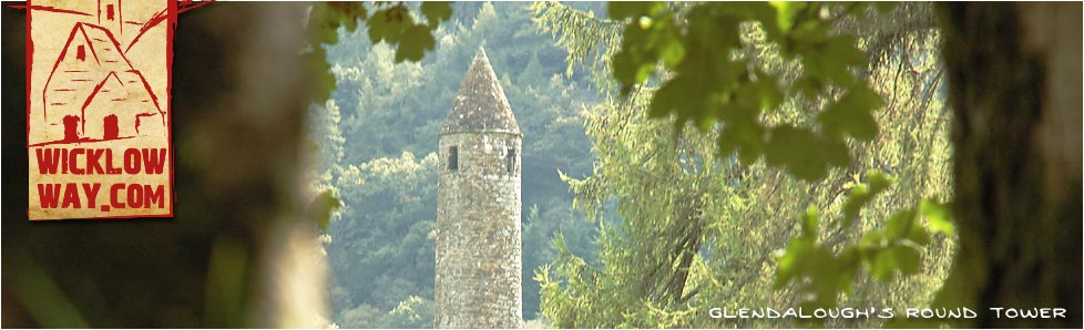 St Kevins Round Tower, Glendalough, County Wicklow