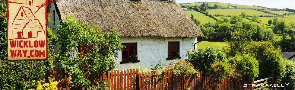Traditional Irish Thatched Cottage, Stranakelly, County Wicklow