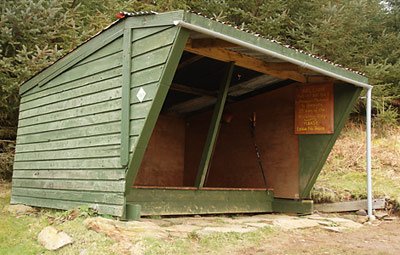 Adirondak Shelter built by Mountain Meitheal on the Wicklow Way