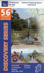 Os Map Of Ireland.Map 56 Publications Wicklow Way